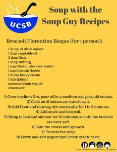 Broccoli Florentine Bisque